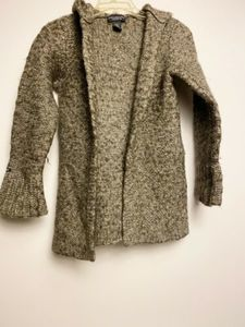 Abercrombie and Fitch Wool Cardigan Hoodie Lg